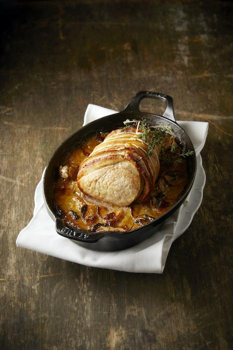 recette de Rôti de veau pommes boulangère