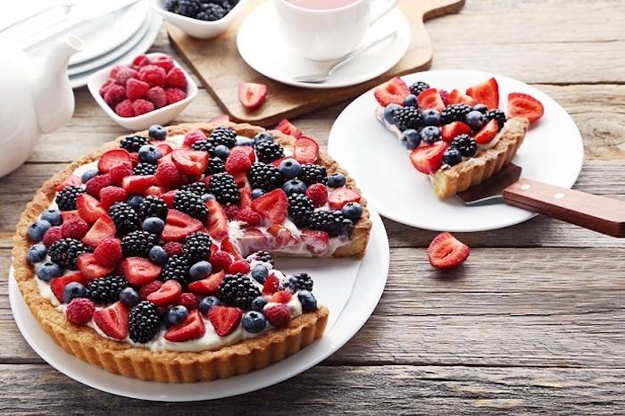 recette de Tarte aux fruits des bois et mascarpone