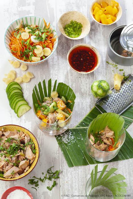 recette de Verrines thaï au thon
