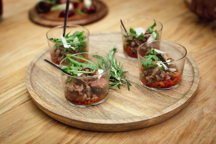 recette de Verrines de boeuf à la salsa rubra