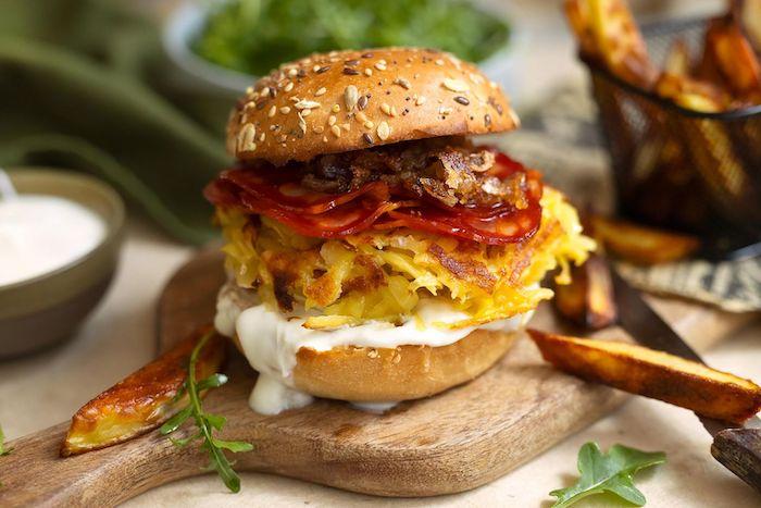 recette de Burger au chorizo et pommes de terre