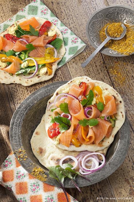 recette de Chapatis au saumon fumé