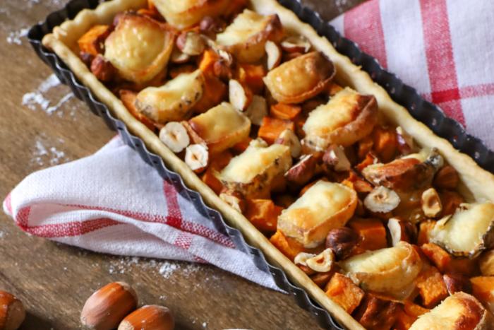 Tarte à la patate douce et au chèvre