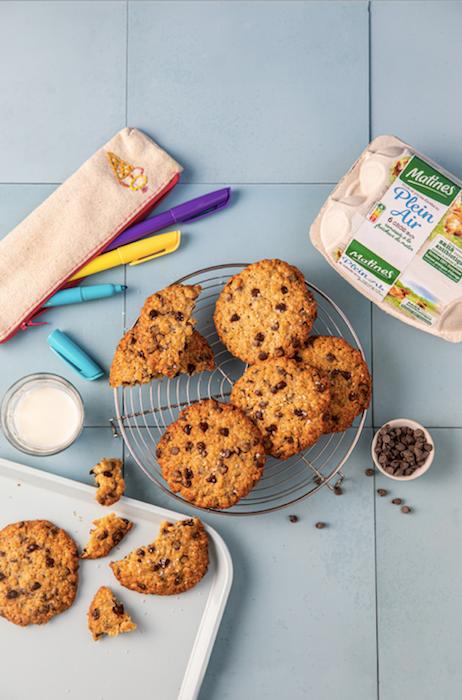 recette de Cookies aux flocons d'avoine et chocolat