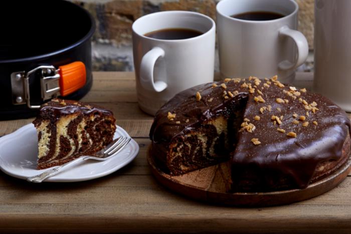 Gâteau marbré au caramel, gourmandissime