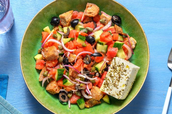 Salade de tomates et feta à la crétoise