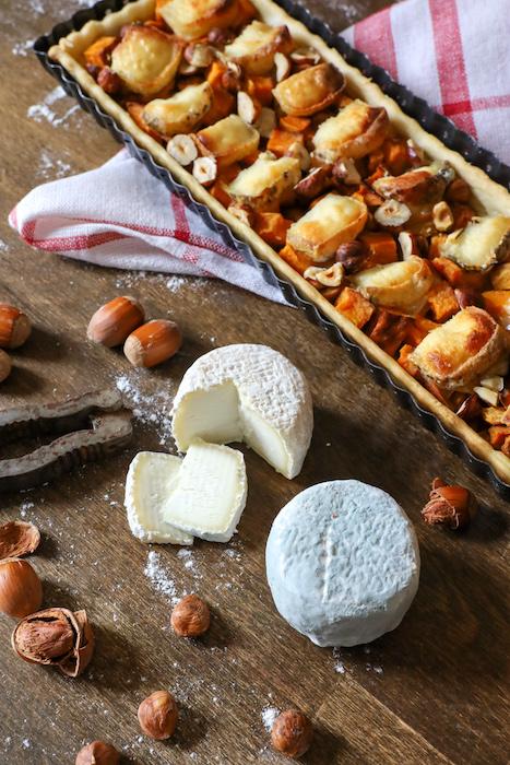 recette de Tarte à la patate douce et au chèvre