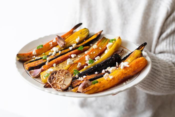 Carottes rôties au sirop d'érable, la délicieuse idée