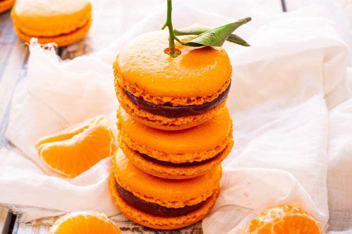Macarons chocolat clémentine de Corse