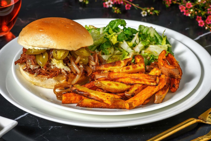 Burger au pulled pork